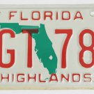 1991 Florida License Plate