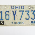1981 Ohio Truck License Plate Tag