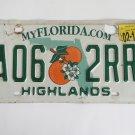 2015 Florida Orange Blossom License Plate