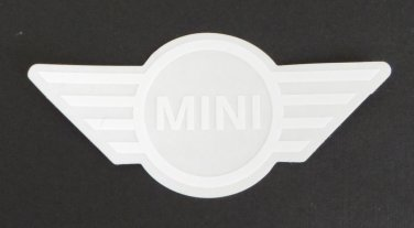Mini Cooper Logo Sticker White JCW Works Sticker