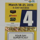 2015 Mobil1 63rd Annual 12 Hours of Sebring Super Ticket IMSA