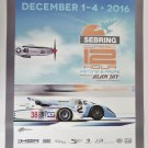 Sebring Classic 12 Hour Poster Pistons & Props HSR Dec. 1-4 2016