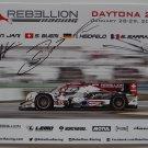 Rebellion Racing IMSA Daytona 24 Drivers Signed Photo Hero Card