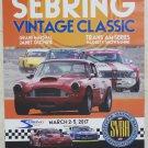 2017 SVRA Sebring Vintage Classic Poster Sebring Raceway
