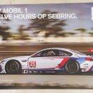 2017 BMW GTLM Team RLL Mobil1 12 Hours of Sebring Poster IMSA WEC
