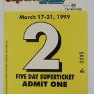 1999 Superflo 12 Hours of Sebring Race Ticket