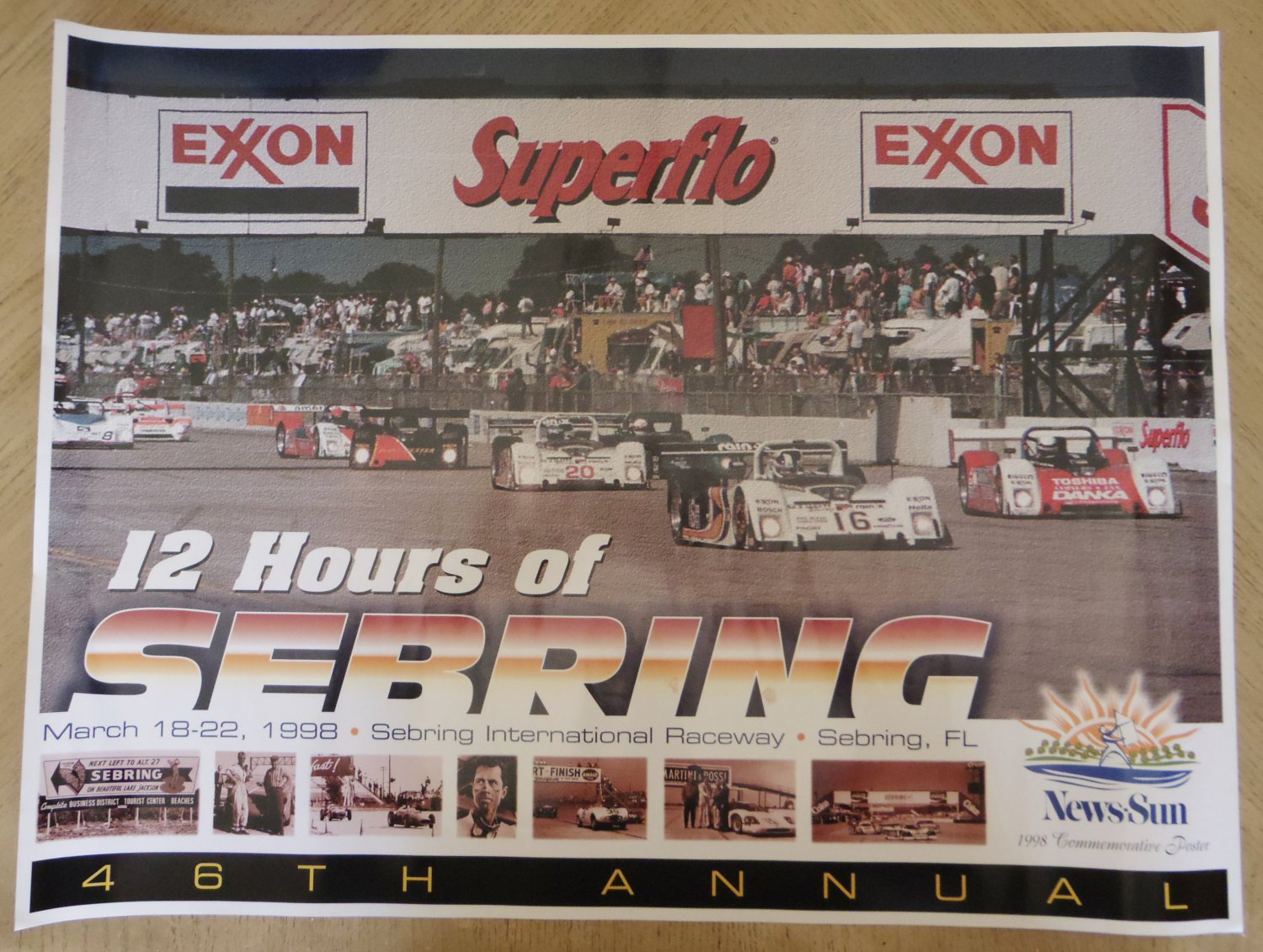 vintage 1998 12 hours of sebring race poster. Black Bedroom Furniture Sets. Home Design Ideas