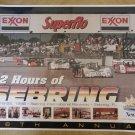 Vintage 1998 12 Hours of Sebring Race Poster
