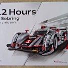 2012 Audi R18 12 Hour of  Sebring Poster