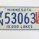 Minnesota 10,000 Lakes License Plate
