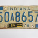 1976 Indiana License Plate