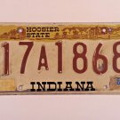 Indiana Hoosier State License Plate