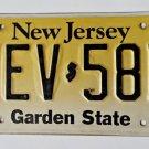 New Jersey Garden State License Plate