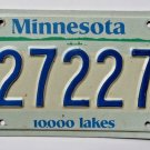 2012 Minnesota 10,000 Lakes License Plate