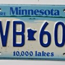 Explore Minnesota 10,000 Lakes License Plate