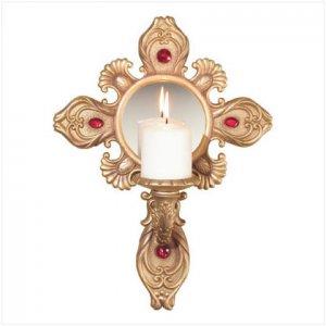 Crucifix Candle Holder
