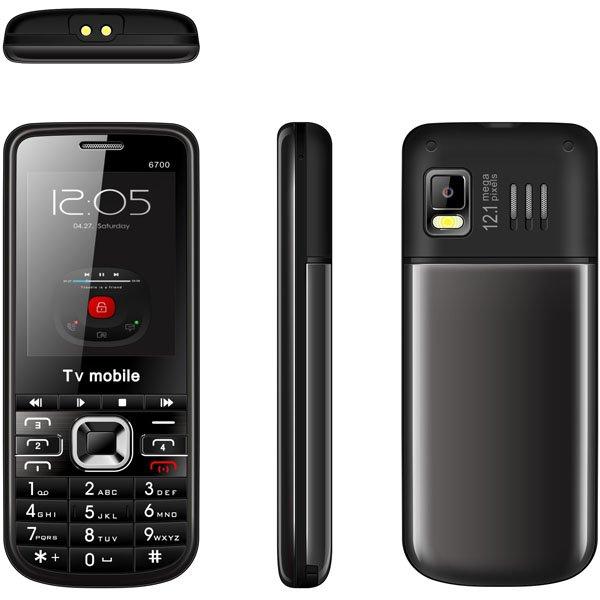TV Mobile Phone Quad Band 4 SIM Cards 4 Standby Quad sim cell phone 2.2inch 6700