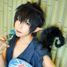 Ao no Exorcist Rin Okumura Straight Short Black Cosplay Anime Wig