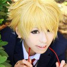 Kyōkai no Kanata Akihito Kanbara Short Blonde Anime Cosplay Hair Wig