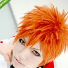 Bleach Kurosaki Ichigo Orange Short Anime Cosplay Party Hair Wig