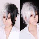 Hot Sell!Dangan-Ronpa 2 Mono Kuma Black and White Short Cosplay Wig