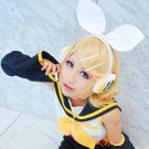 VOCALOID Mirror Music lin Cosplay Short Blonde Wig Free Shipping