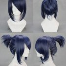 "18"" Straight Mixed Gray Blue Cosplay Wig with Braid -- Future City No.6 Mice Nezumi"