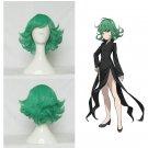 Tatsumaki Green Short Hair 35cm Wig Cap +Free Shipping
