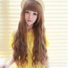 Fashion New Women Hair Cosplay Wigs Full Slightly Curly Long Wavy Wig