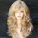 Women's fashion Rihanna wig  long party wavy curly hair sexy blonde wig Peruca pelucas synthesis