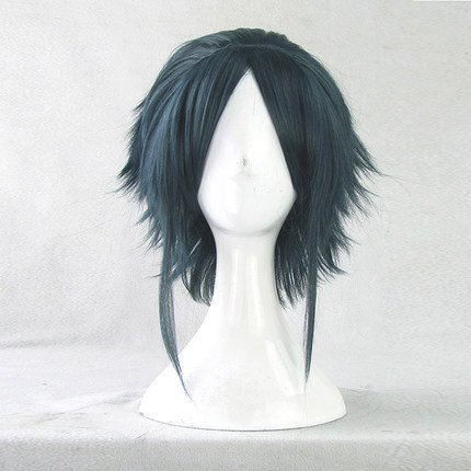 Anime MAGI Hakuryuu Ren Cosplay Wig 35CM Dark Green Black Short Hair Halloween Wigs Free Wig Cap