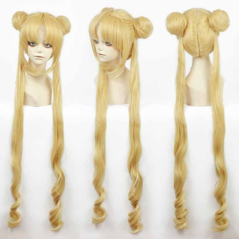 A Long Tsukino Usagi And Princess Serenity Girl Sailor Moon Cosplay Costumes Wig
