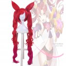 LOL Star Guardian Jinx Skins the Loose Cannon Red Long Cospaly Wig with Ponytail