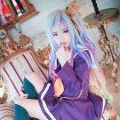 NO GAME NO LIFE Shiro Lolita Mix Multi-color Long Clip Ponytail Cosplay Full Wig