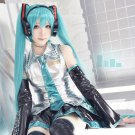 Vocaloid Miku Cosplay Bunches Women's Lolita 120cm Long Pigtails blue Synthetic Full Wig