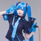 Vocaloid Miku Cosplay Bunches Women's Lolita 120cm Long Pigtails sapphire blue Synthetic Full Wig