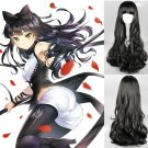 RWBY Blake Belladonna Cosplay 75cm Long curly black hair  anime Full Wig