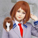 My Hero Academia Ochako Uraraka 麗日 お茶子 cosplay brown anime wigs