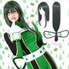 My Hero Academia Tsuyu Asui 蛙吹 梅雨 cosplay green Figure 8 styles anime wigs