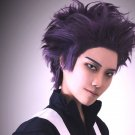 My Hero Academia Hitoshi Shinso 心操 人使 cosplay purple Spiky hairstyle anime wigs