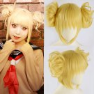 My Hero Academia Himiko Toga 渡我 被身子 cosplay blonde twins bun hairstyle anime wigs