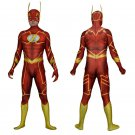 DC 's The Flash Cosplay zentai bodySuit Hallowmas party Fancy dress paty Costume