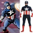 Marve's Captain America Steven Cosplay dark blue zentai Hallowmas party Fancy dress paty Costume