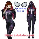 Women's Venom spider-man cosplay purple and black sexy  Cosplay zentai Bodysuit Hallowmas party