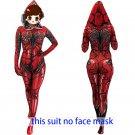 Women's Venom spider-man cosplay red sexy hoodie zentai Bodysuit Hallowmas party Costum