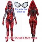 Women's Venom spider-man cosplay sexy red Cosplay zentai Bodysuit hoodie Hallowmas party