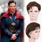 Marve's Doctor Strange Steve Strange cosplay brown short wigs with white temples