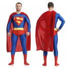 DC's superman cosplay zentai bodysuit Fancy dress party Halloween Party Costume with a cape
