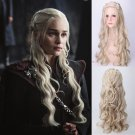 Game of Thrones Daenerys Targaryen dany cosplay Halloween Party Fancy Pale blond wigs