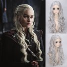 Game of Thrones Daenerys Targaryen dany cosplay Halloween Party Fancy silver wigs